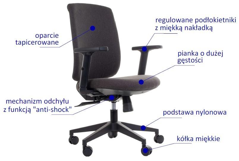 Krzesło biurowe obrotowe ZN 605 B 26